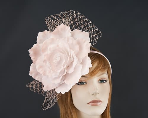 Pink flower racing fascinator