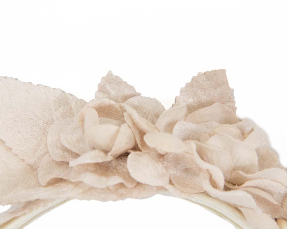Nude flower headband fascinator