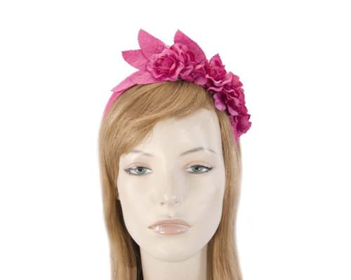 Fuchsia flower headband fascinator