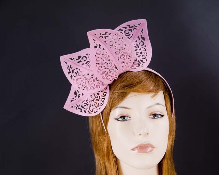 Hot pink felt laser-cut fascinator