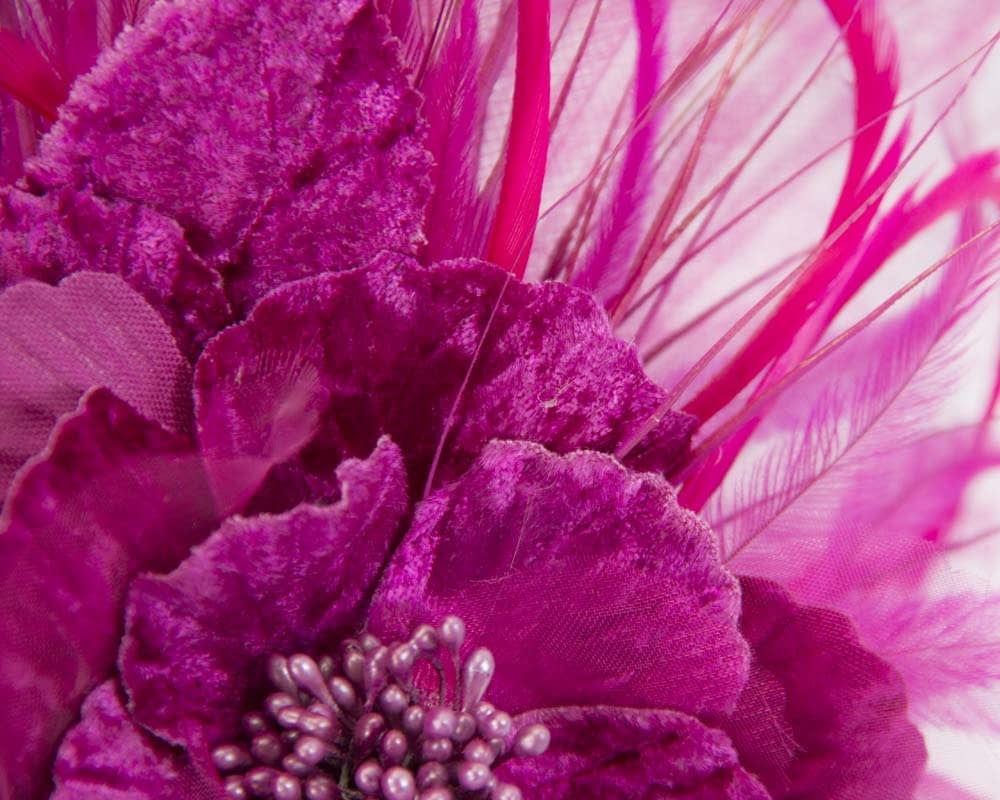 Fuchsia flower fascinator