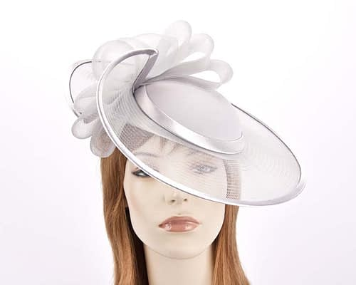 Silver mother of the bride hat