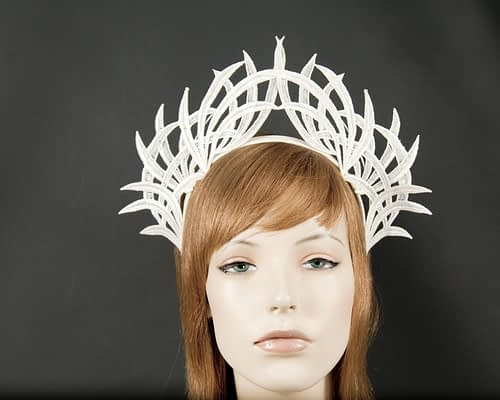 Ivory lace crown fascinator