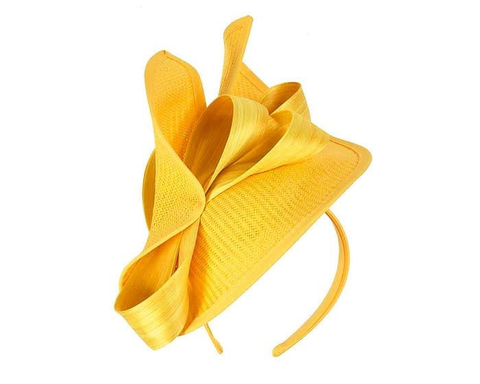 Fascinators Online - Yellow fascinator with bow by Fillies Collection 2