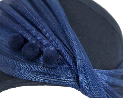 Fascinators Online - Navy & Royal Blue felt crown fascinator by Fillies Collection 3