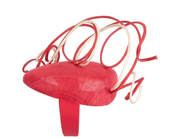 Fascinators Online - Designers red & nude racing fascinator by Fillies Collection 3