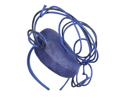 Fascinators Online - Designers royal blue & navy racing fascinator by Fillies Collection 5