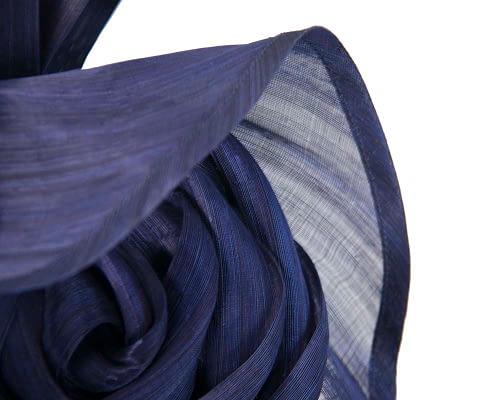 Fascinators Online - Navy sculptured silk abaca fascinator by Fillies Collection 3