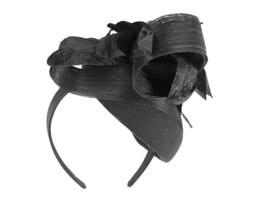 Fascinators Online - Tall black felt pillbox with flower by Fillies Collection 4