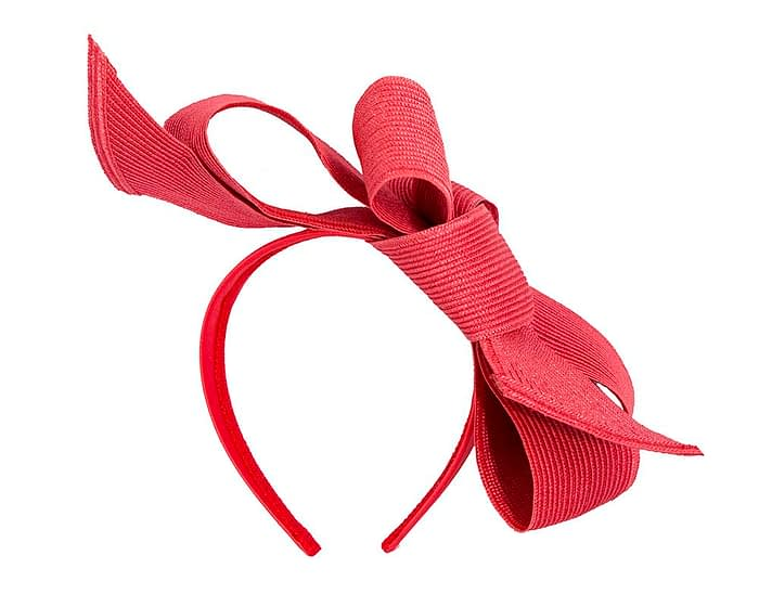 Fascinators Online - Large red bow fascinator by Max Alexander 4