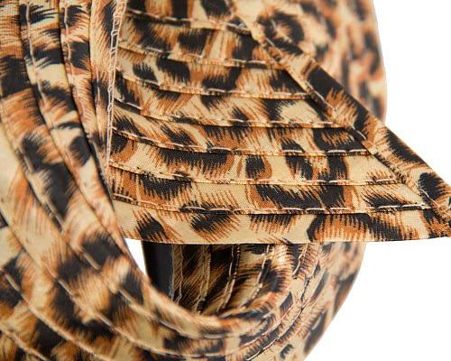 Fascinators Online - Twisted leopard fascinator 3