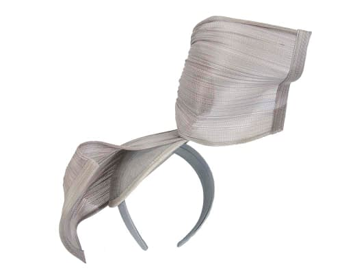 Fascinators Online - Silver twisted jinsin fascinator by Fillies Collection 4