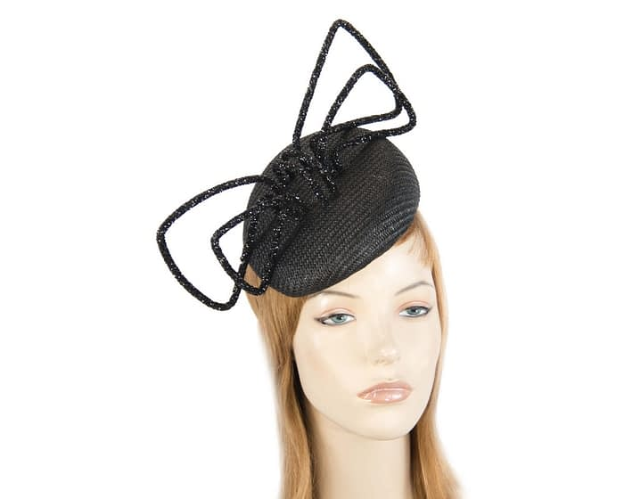 Fascinators Online - Bespoke black pillbox with bow by Fillies Collection 1