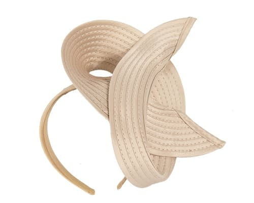 Nude racing fascinator by Max Alexander