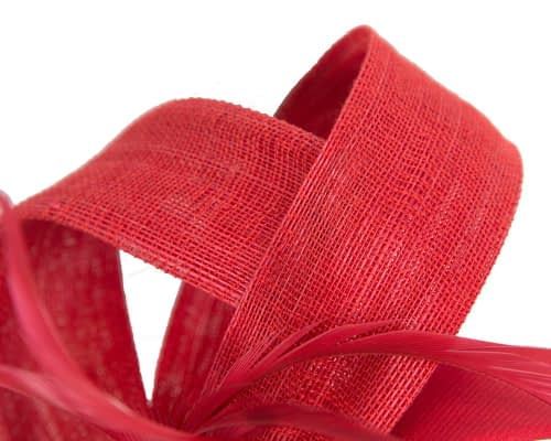 Fascinators Online - Red loops headband fascinator by Fillies Collection 3