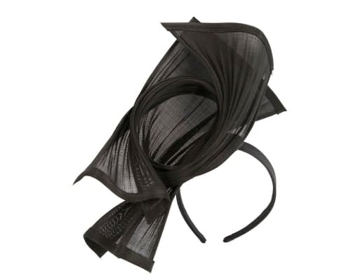 Fascinators Online - Black twisted jinsin racing fascinator by Fillies Collection 2