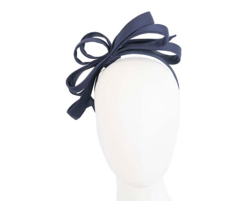 Fascinators Online - Navy bow racing fascinator by Max Alexander 16