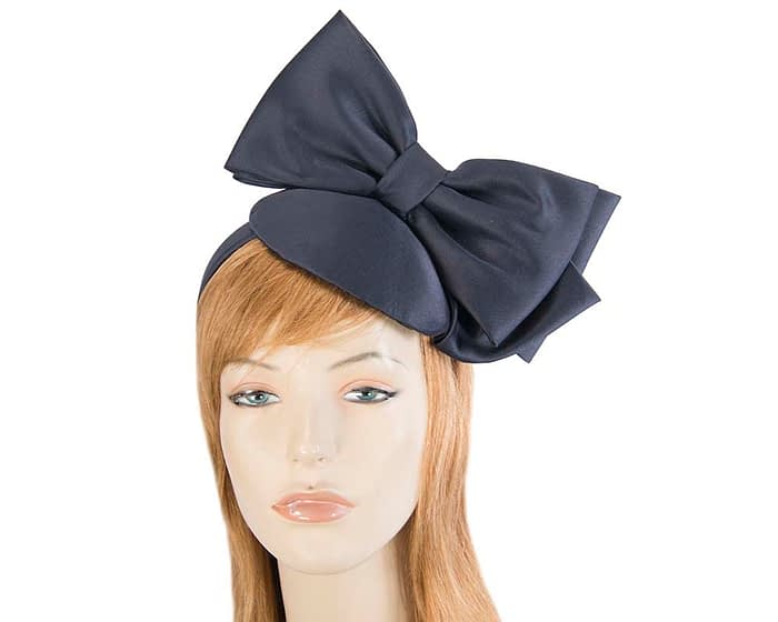 Fascinators Online - Large navy bow fascinator by Max Alexander 1