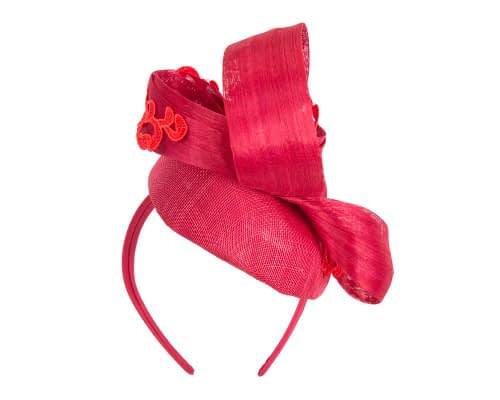Fascinators Online - Red pillbox fascinator with lace by Fillies Collection 6