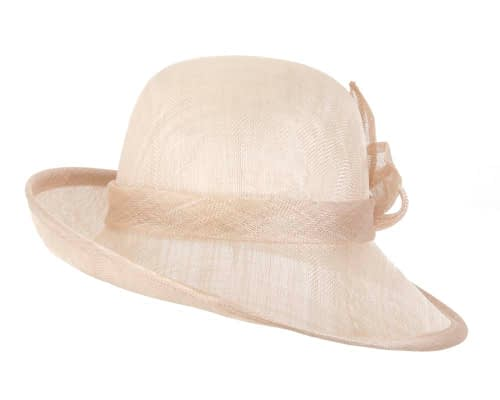 Fascinators Online - Nude cloche spring fashion hat by Max Alexander 4