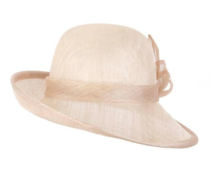 Fascinators Online - Nude cloche spring fashion hat by Max Alexander 4