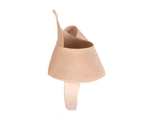 Fascinators Online - Stylish nude Australian Made racing fascinator by Max Alexander 4
