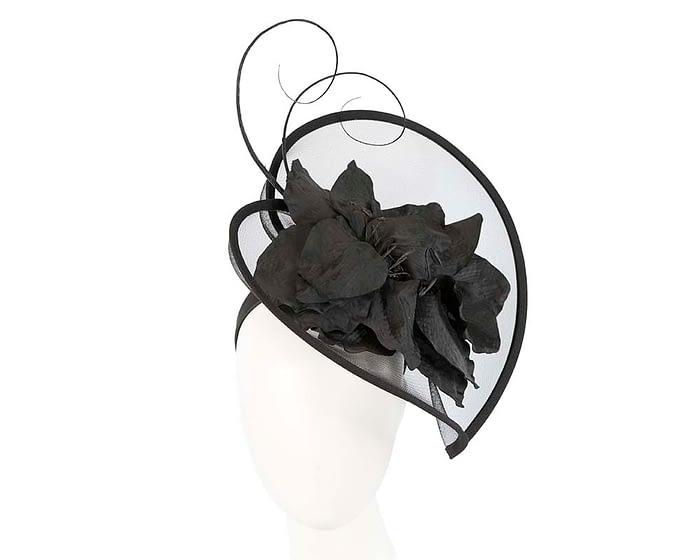 Fascinators Online - Bespoke black heart fascinator by Fillies Collection 1