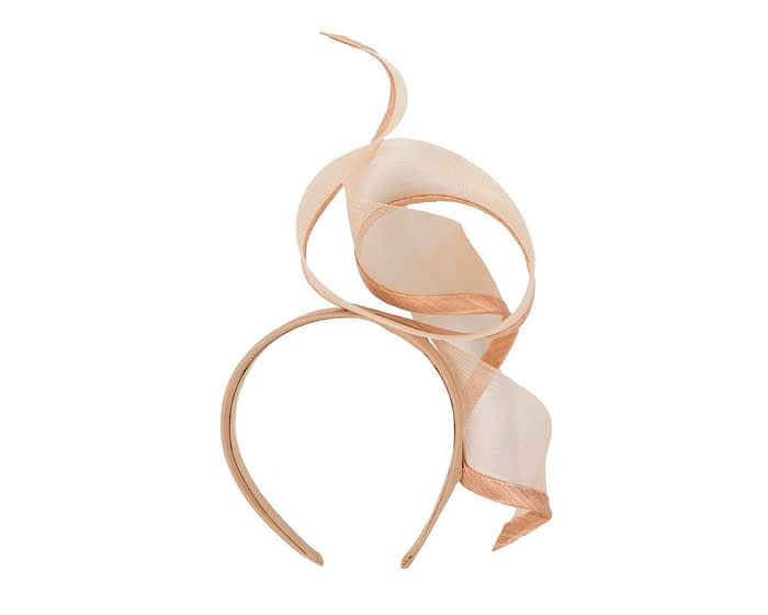 Fascinators Online - Twisted nude racing fascinator by Fillies Collection 4