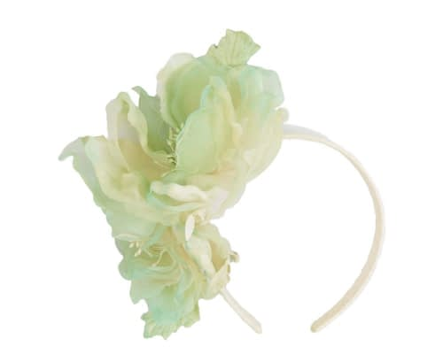 Fascinators Online - Light Green Silk Flower Fascinator by Fillies Collection 2