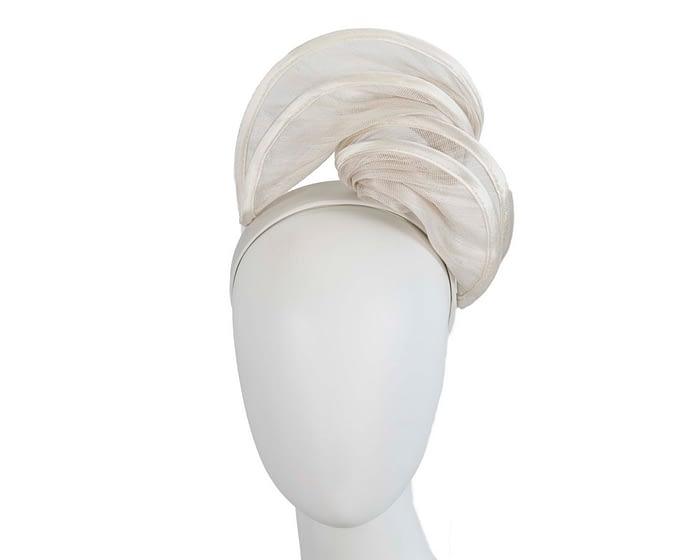 Fascinators Online - Cream headband racing fascinator by Fillies Collection 1