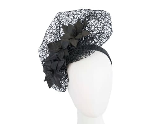Fascinators Online - Black designers racing fascinator by Fillies Collection 33