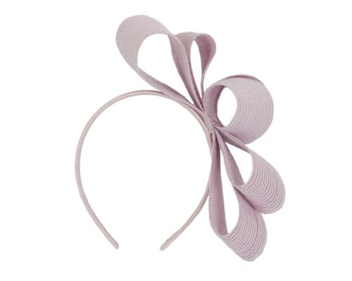 Fascinators Online - Large dusty pink bow racing fascinator by Max Alexander 2