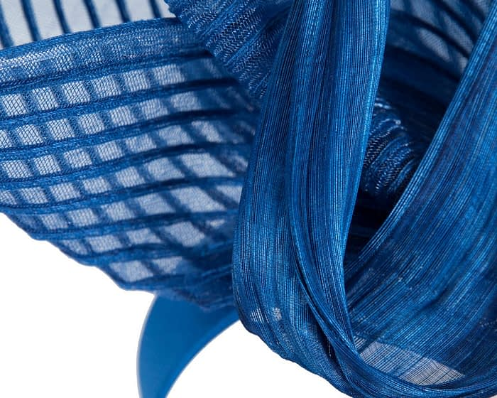 Fascinators Online - Tall Australian Made royal blue racing fascinator by Fillies Collection 3