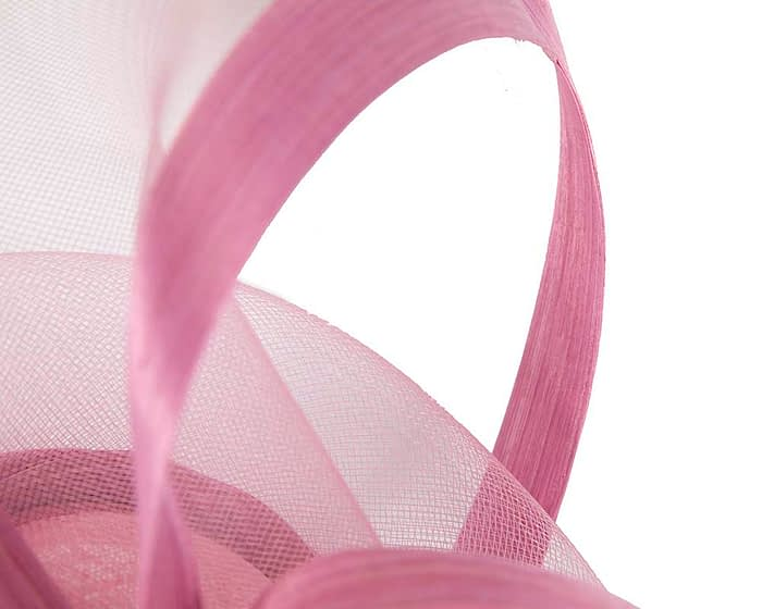 Fascinators Online - Edgy dusty pink fascinator by Fillies Collection 5