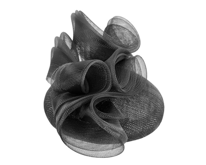 Fascinators Online - Black pillbox racing fascinator with wave by Fillies Collection 4