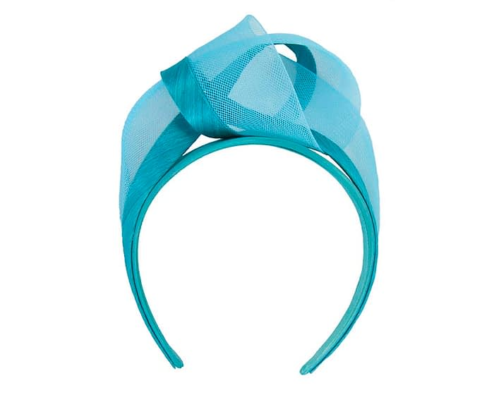 Fascinators Online - Turquoise turban headband by Fillies Collection 2