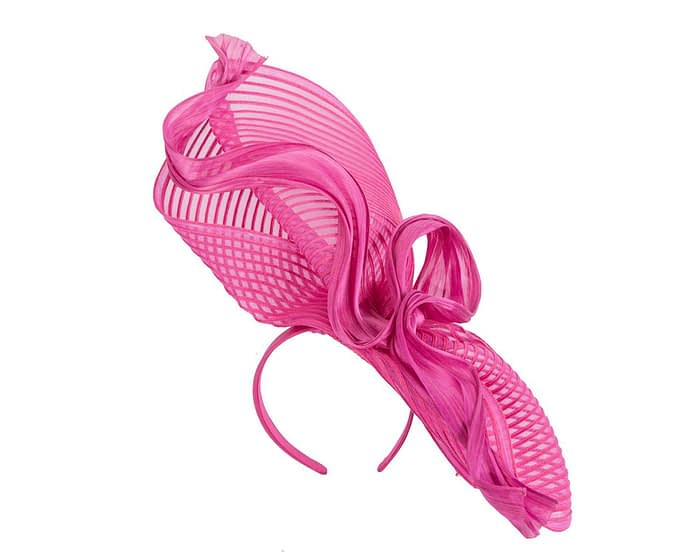 Fascinators Online - Tall Australian Made fuchsia racing fascinator by Fillies Collection 2