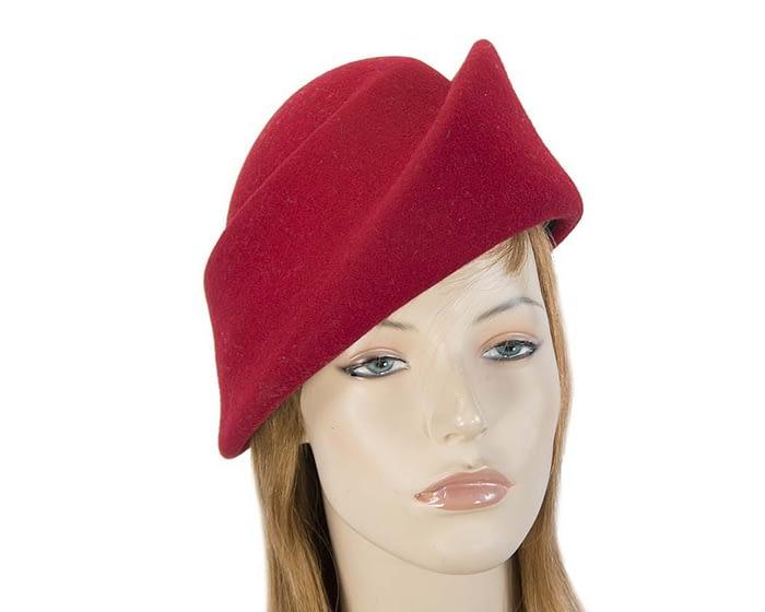 Fascinators Online - Designers red felt hat 1