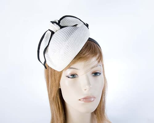White r& black acing pillbox racing fascinator