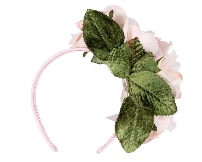 Fascinators Online - Multi-color blush flower headband by Max Alexander 4