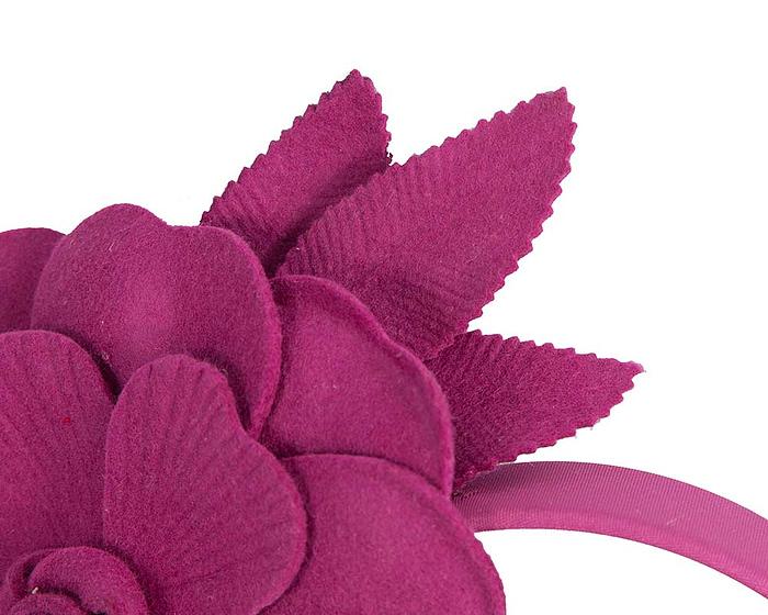 Fascinators Online - Fuchsia felt flower fascinator by Max Alexander 3