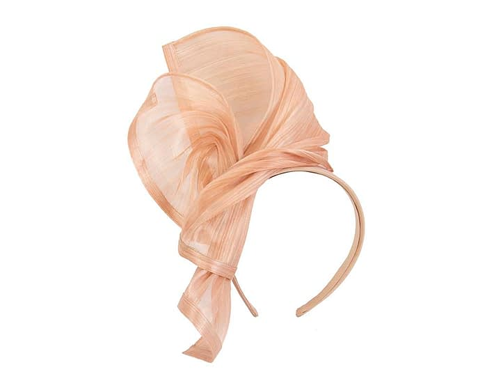 Fascinators Online - Nude twists of silk abaca fascinator by Fillies Collection 2