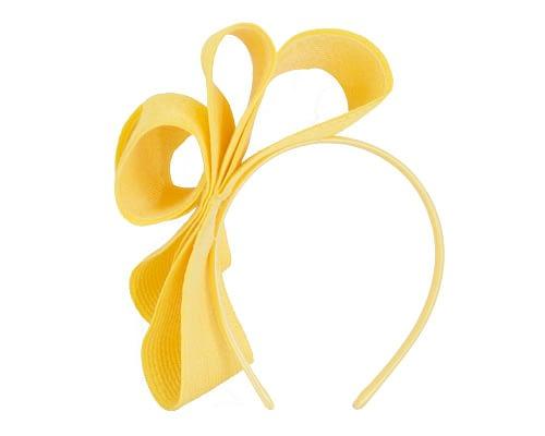 Fascinators Online - Large yellow bow racing fascinator by Max Alexander 4