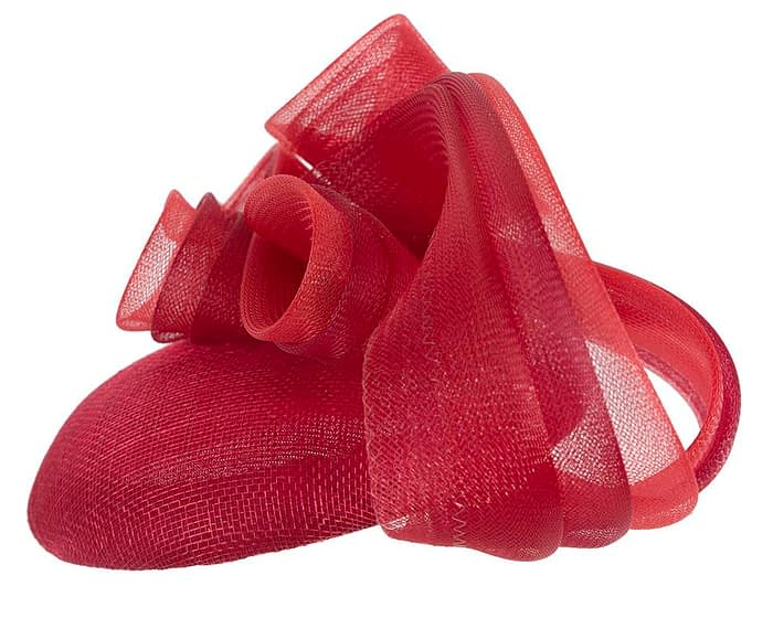 Fascinators Online - Red pillbox racing fascinator with wave by Fillies Collection 3