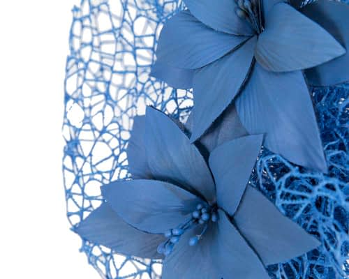 Fascinators Online - Royal blue designers racing fascinator by Fillies Collection 3