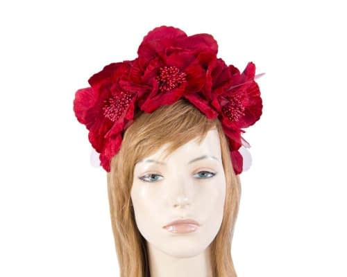 Fascinators Online - Red flower halo 1
