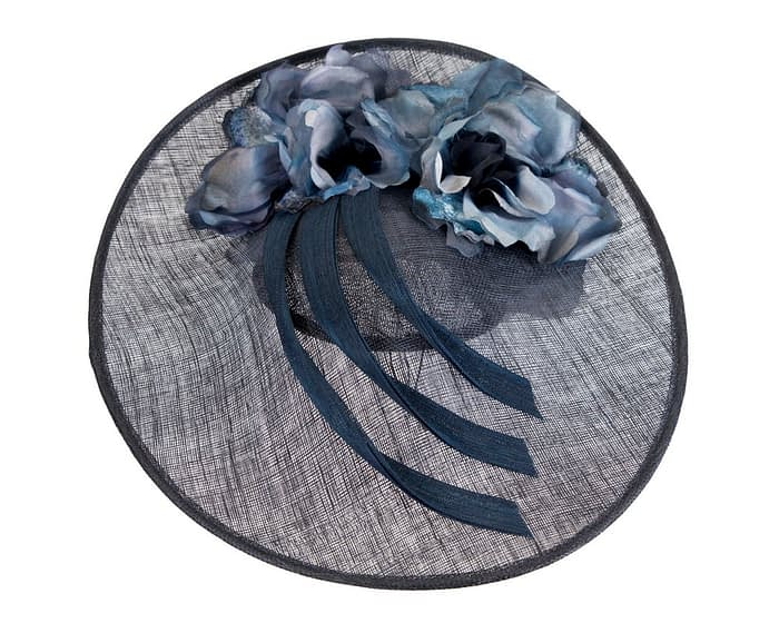 Fascinators Online - Large navy plate racing fascinator by Fillies Collection 3