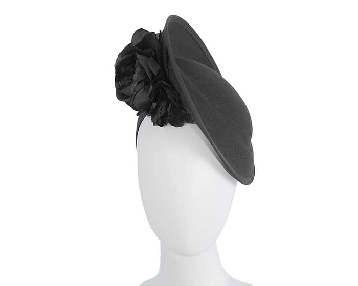Fascinators Online - Large black plate with flowers by Fillies Collection 1