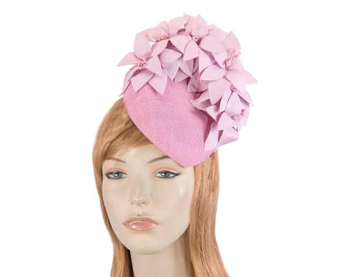 Fascinators Online - Lilac leather flower pillbox fascinator by Fillies Collection 1