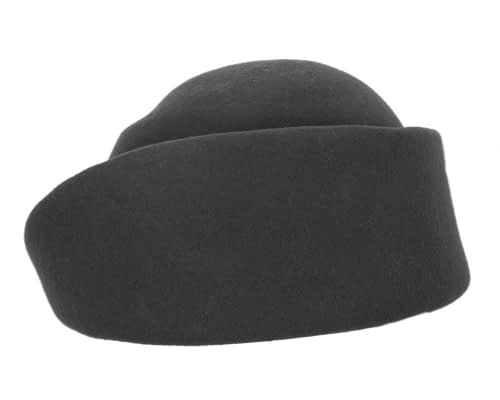Fascinators Online - Designers black felt hat 3